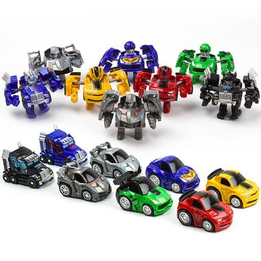 The toy version of the mini car deformation diamond Q mini pocket toy car deform