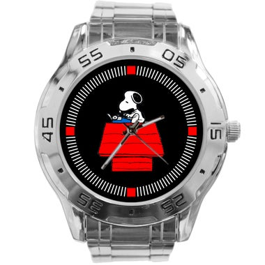 Charlie Brown and Snoopy Custom Casual Stainless Steel Band Dress Wrist Watch