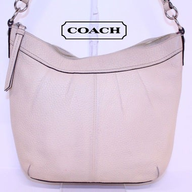 Coach SOHO Pleated Pebbled Leather Hobo Purse