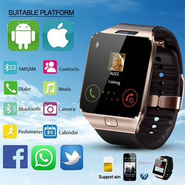 Bluetooth Smart Watches DZ09 Smartwatch For Android Apple Phone Clock Support Fa