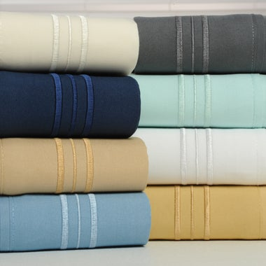 1800 Thread Count Bamboo Comfort 3 Line Ultra Soft 4 Piece Egyptian Quality Shee