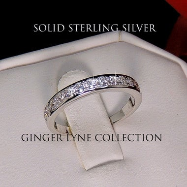 Victoria Sterling Silver Anniversary Band Wedding Ring - Ginger Lyne Collection