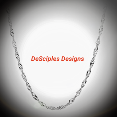 Twisted Unisex Sterling Silver Chain