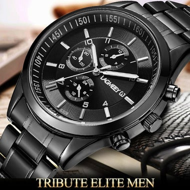 LAGMEEY Military Army Top Brand Luxury Sports Casual Mens Stainless Steel Wristw