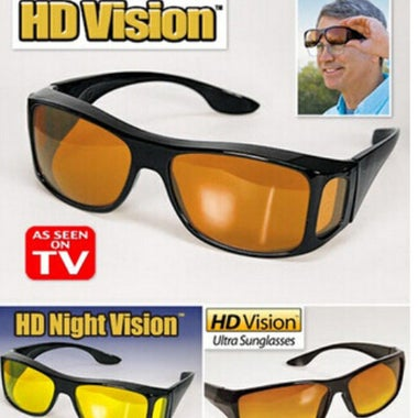 (2 Pairs) Christmas Gifts Night Vision Unisex Driving Sunglasses Nice Over Wrap