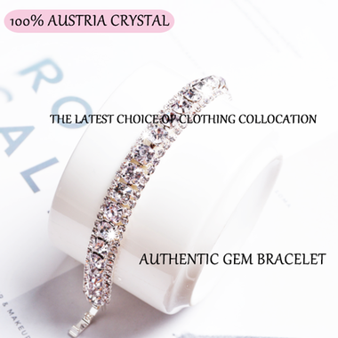 100% AUSTRIA CRYSTAL AUTHENTIC GEM BRACELET