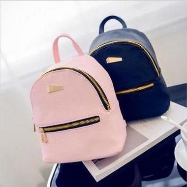Fashion Faux Leather Mini Backpack Girls Handbag School Rucksack Mini Bag