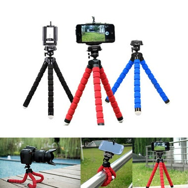 1pcs Camera Phone Holder Flexible Octopus Tripod Bracket Stand Mount Monopod Sty