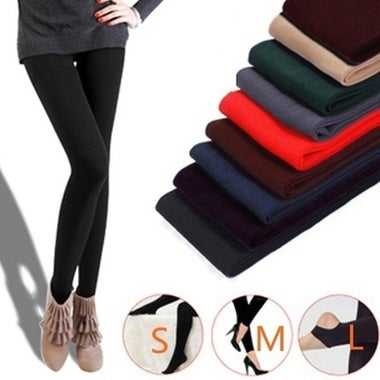 Brushed Stretch Fleece Lined Thick Tights Warm Winter Pants Warm Leggings