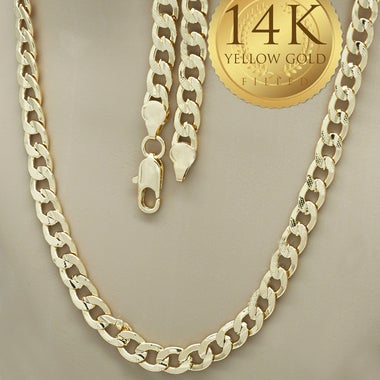 Thick 8MM Pave Cuban Link Chain 30 Inches Long