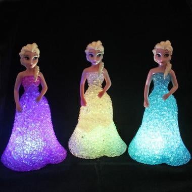 Frozen LED Colorful Lights Gradient Crystal Night Light