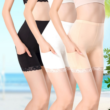 Details about Women Ladies Elastic Safety Lace Soft Underwear Shorts Pants Leggi