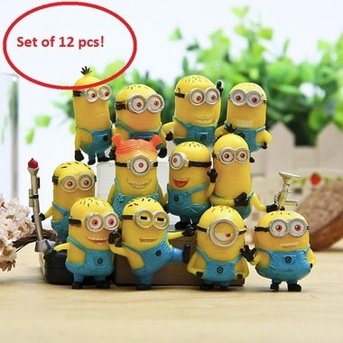 12pcs Cute Despicable Me 2 Minions Movie Character Figures Doll Toy Gift