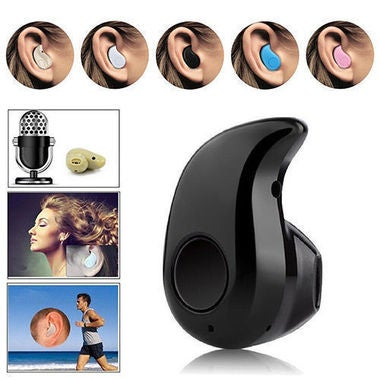 Black Mini universal stereo wireless bluetooth v4.0
