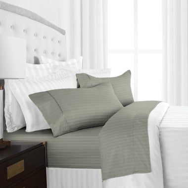 Kathy Ireland 1800 Series Striped Ultra Soft 4 Piece Egyptian Cotton Quality She