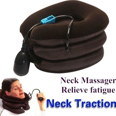 Neck Messager Cervical Vertebra Protection Aerated Neck Brace Device With Sponta