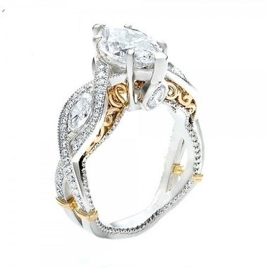 Brilliant Marquise Cut Ring
