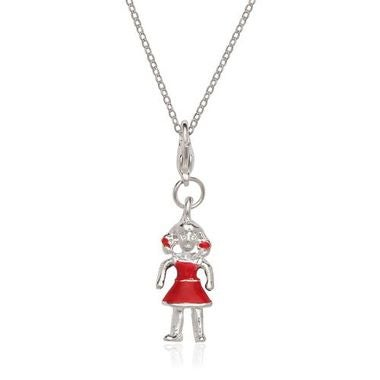 Silver Plated GIRL Charm And Chain