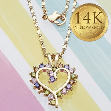 Classic Open Heart Necklace, Flawless 6.0ct Halo Cut Natural AMETHYST Gem Stone