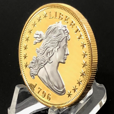 High Quality 1796 Uncirculated 1 Troy ounce 999 Gold & Silver Clad Flowing Hair