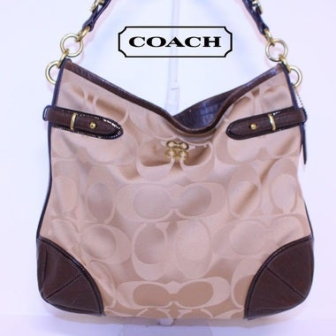 Rare Coach Signature Colette Sateen Hobo Purse