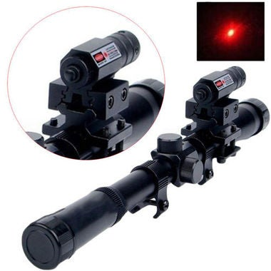 Red Tactical Laser Beam Dot Sight Scope for Gun Rifle Pistol Picatinny Mount QV2