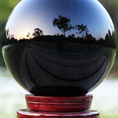 40MM Natural Black Obsidian Sphere Large Crystal Ball Healing Stone