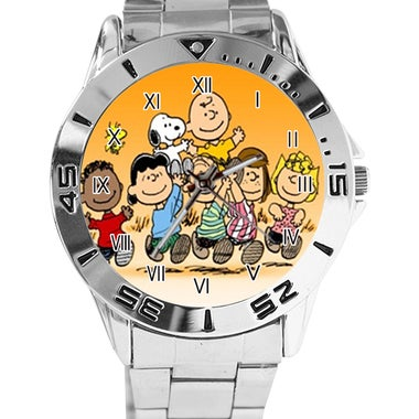 Peanuts Snoopy Custom Casual Stainless Steel Band Dress Wrist Watch