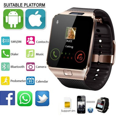 Original Sim Smartwatch Support UP to 32GB TF Card,Bluetooth Smart Camera GSM SI