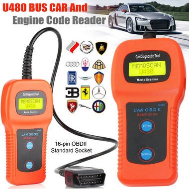 Car Diagnostic Scanner Tool U480 OBD2 CAN BUS & Engine Code Reader