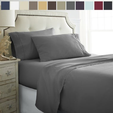 Lux Decor 4 Piece Bed Sheets Set- HIGHEST QUALITY Brushed 1800 Bedding Series Sh