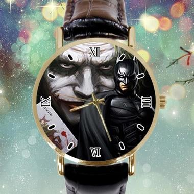 Batman Joker Photo Custom Leather Band Analogue Men Or Women Watch Best Gift