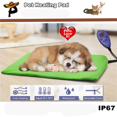 2018 New EU Plug Pet Heat Pad Electric Heating Pad for Cats and Dogs Waterproof