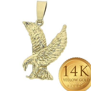 Gold Filled Ladies Fancy Pendant, Eagle Style (FJ583720)