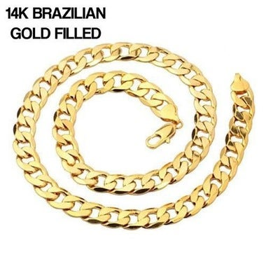 14K Gold Filled Cuban Chain 24