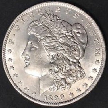 1890CC Collectors Uncirculated One Troy Ounce .999 Silver Clad 1890 CC Morgan