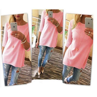 2018 Women's Sleeves Loose Big yards Blouse Style 4 Color