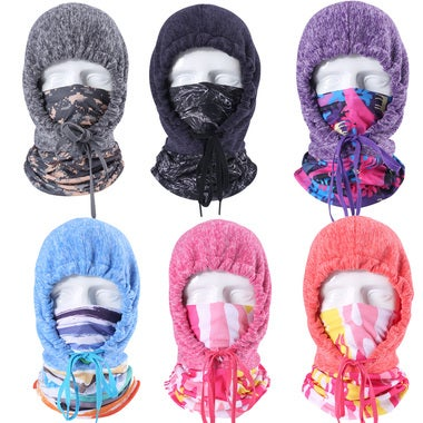 New Thermal Fleece Ski Face Mask Balaclavas Hood Neck Warmer Snow Wind Stopper C