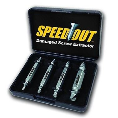 Speed Out 4pcs Damaged Screw Extractor Use With Any Drill As Seen On TV SpeedOut