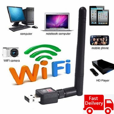 Mini USB Wireless Network Card, Wireless AP External Antenna, WIFI Receiver Tran