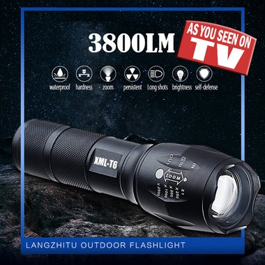Powerful 10000LM CREE T6 LED Flashlight 5 Mode Zoomable Waterproof Torch Outdoor