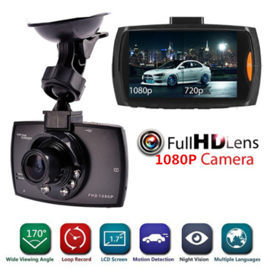 2.4inch Car Camcorder HD 1080P Night Vision Car Video Camcorder Recorder Auto DV