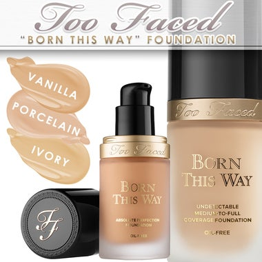 Too Faced | BORN THIS WAY FOUNDATION | Medium-to-full, Oil-Free | Vegan-Friendly