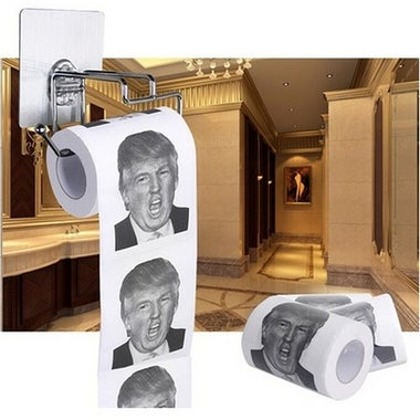 2 ply Soft Donald Trump Funny Toilet Paper Printed Gag Gift Toilet Tissue Roll