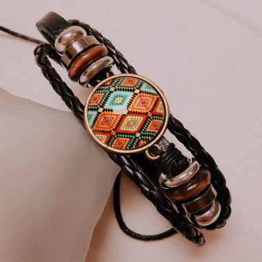 Women's handmade Weave National style Bracelet