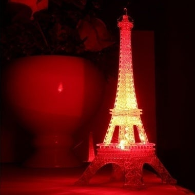 Color Changable Eiffel Tower lamp Transparent Kids Tower Night Light