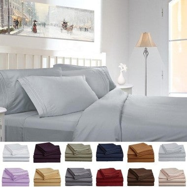 Lux Decor Bed Sheet Set - HIGHEST QUALITY Brushed Microfiber 1800 Bedding Series