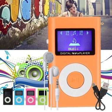 Mini USB MP3 Music Media Player LCD Screen Support 32GB Micro SD TF Card Slot(in