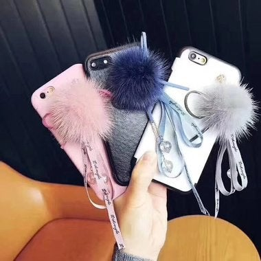 Great Hairball Tassels Case For iPhone 8 Plus iPhone 7 Plus 6 6S Plus Cell Phone