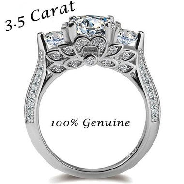 Brilliant Retro Round Cut 3.5Ct Ring